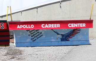 Apollo Career Center won the People's Choice Award in ODOT District 1's annual Paint the Plow competition.