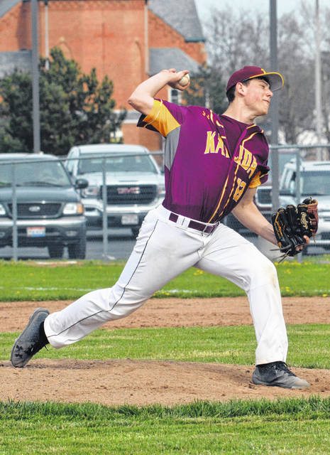 Kalida pitcher Owen Recker tossed a three-hit shutout. The Kent State bound hurler, who picked up his fifth win of the season, struck out 11