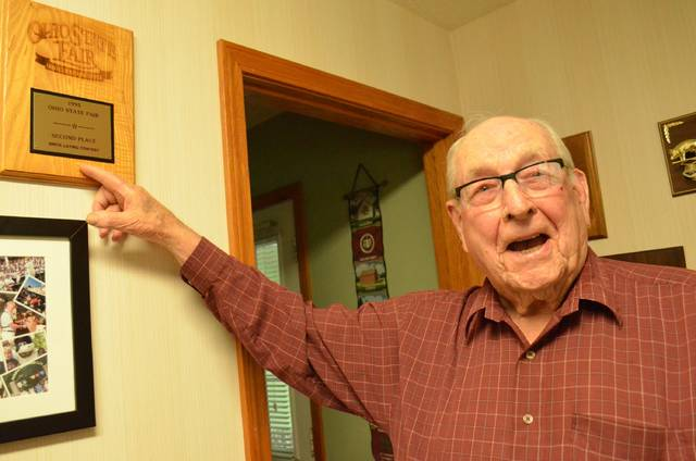 """Richard """"Dick"""" Ricker, of Fort Jennings, will be inducted into the Ohio Agricultural Hall of Fame Aug. 3. Ricker served three terms as Putnam County Commissioner and he served on the school board for Fort Jennings and as president of the Ohio Pork Council."""