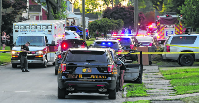American Township Rescue, Lima Police and Allen County Sheriff respond to a stabbing at 643 Cortlandt Ave. on Sunday evening.