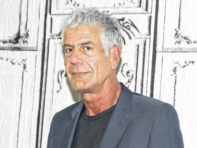 "Anthony Bourdain participates in the BUILD Speaker Series in 2016 to discuss the online film series ""Raw Craft"" at AOL Studios in New York. Bourdain was found dead in his hotel room in France on Friday while working on his CNN series on culinary traditions around the world."