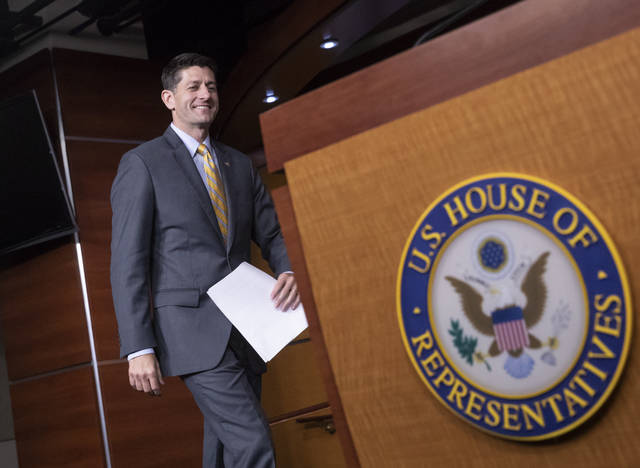 In this June 21 photo, Speaker of the House Paul Ryan, R-Wis., arrives for a news conference at the Capitol in Washington. House Republicans say they will make another run at immigration legislation in the coming week, but the effort appears all but doomed after President Donald Trump said the bill was a waste of time with no chance of becoming law.