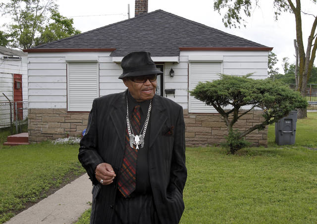 Joe Jackson tours the his family home in Gary, Ind., on June 2, 2010. Jackson, the patriarch of America's most famous musical clan, died at the age of 89.