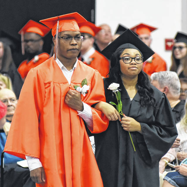 Students process into the ceremony.