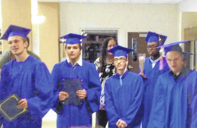 From Left to Right: Micah Hodges, Dylan Ladden, Daniel Dick, Xavier Williams and Jesse Pearson graduated from The Center for Autism and Dyslexia at 6 p.m. May 11 at Perry High School.