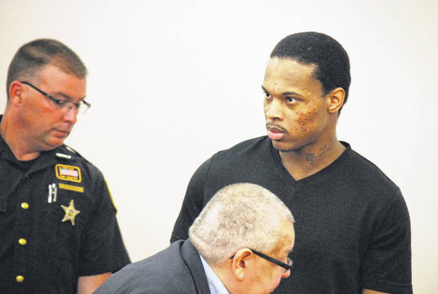 A sentencing hearing for Toledo resident Derrick Martre, right, was postponed Thursday in Allen County Common Pleas Court after the defendant said new information had recently come to light that led him to ask the court for permission to withdraw previously tendered guilty pleas to gross sexual imposition and other related charges.