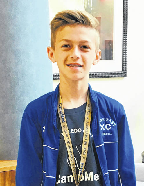 Hunter Sidle spent two days at the University of Toledo as a participant in Camp Med.