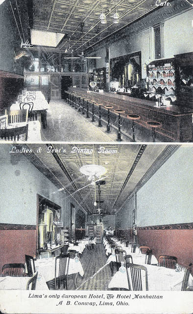 """These postcards from no earlier than 1913 show the interiors of the establishment. The bar was called a """"Cafe,"""" and the restaurant was called the """"Ladies and Gent's Dining Room."""""""