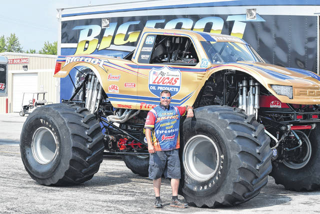 Christian Norman is in his first year of driving the Lucas Oil Bigfoot monster truck.