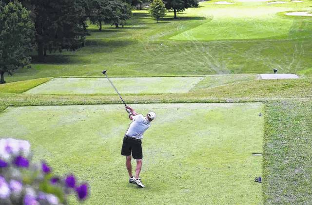 Brian Kuhlman tees off on the first hole of the final day of the 2017 Lima City Men's Golf Championship at Shawnee Country Club. Kuhlman went on to win the Championship Flight for the second straight year. This year's event will take place June 20-24 at courses throughout the Lima area. Online registration and additional details are available at limacitygolf.com or call Steve Mulcahy at 419-229-4801.