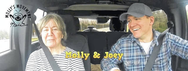 Molly and Joe Daley during their 'Mother and Son Journey' series.