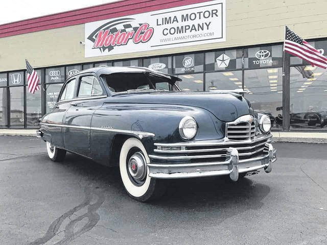Josh Bloomfield, general manager and owner of Lima Motor Company, purchased this 1950 Packard a little over a year ago. It rests on the showroom floor at Lima Motor Company, 2062 N. Cable Road, Lima.