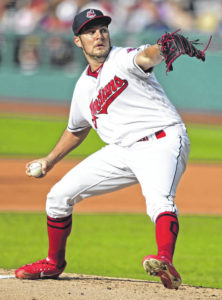 Bauer strikes out 11 as Indians defeat Tigers 4-1