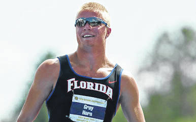 Waynesfield-Goshen graduate Gray Horn, shown in his days as a decathlete at the University of Florida, is the interim head track coach at the University of California-Santa Barbara.