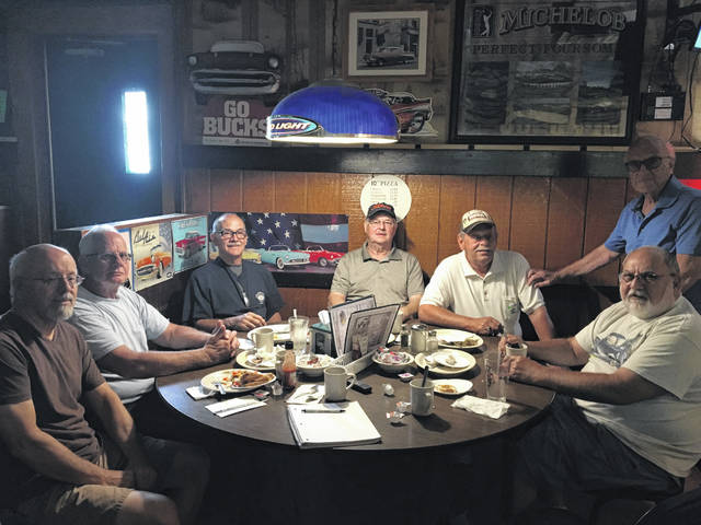 Lombardo's Wednesday breakfast crew: Gary Swallow, Mike Burden, Dave Semer, Roger Griffith, Dave Dotson, Andy Maravola and Harold Van Horn. These local car enthusiasts meet every Wednesday morning at Lombardo's for food and conversation. Merri Hanjora | Photo