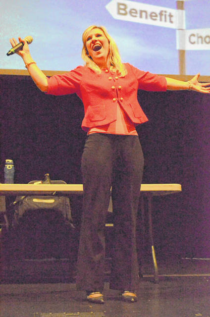 Susan Willeke, education and communications administrator for the Ohio Ethics Commission, gave a lively presentation on the Ohio Ethics Law to Auglaize County public officials Monday at the Wapakoneta Performing Arts Center.