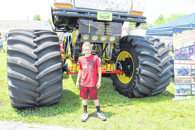 Blake Wagoner, 11, enjoys himself at the O'Reilly Auto Parts 4 Wheel Jamboree at the Allen County Fairgrounds. Wagoner was diagnosed with stage 3 Hodgkins lymphoma in November 2017.