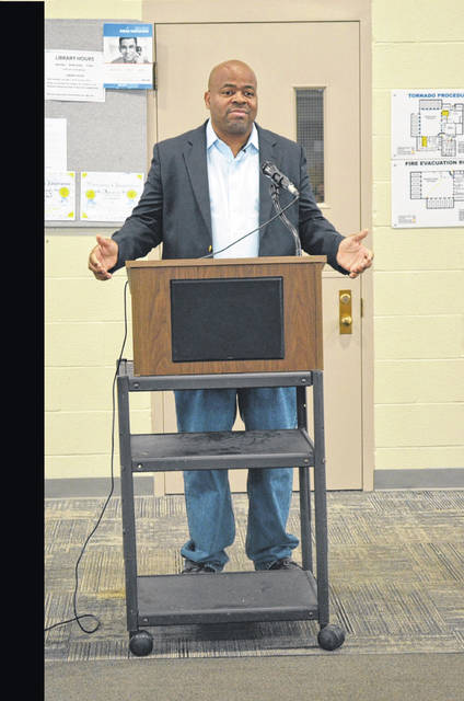 "Andre Norman, referred to at ""The Ambassador of Peace,"" encouraged the residents of the W.O.R.T.H. Center to embrace treatment while also telling them about his life. Norman was incarcerated for drug dealing and his sentence was lengthened after he became involved in a gang. Now he reaches out to addicts, troubled teens and children, prisoners and anyone else who wants to improve their lives."