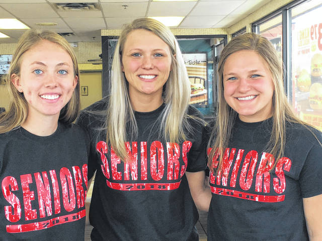Submitted Photo Pictured, from left, Sydney Hoff, Kelli Leugers, and Karis Wilson.