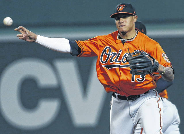 The Baltimore Orioles traded Manny Machado to the Los Angeles Dodgers for five prospects Wednesday night.
