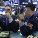 US stocks edge higher as airlines, railroads and banks jump