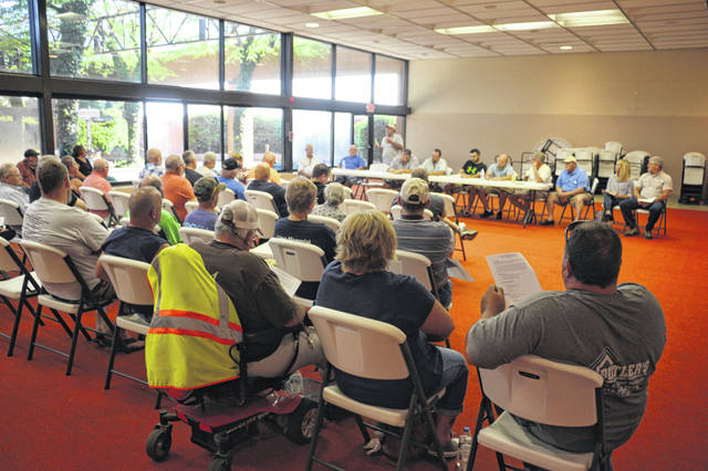 Residents of areas east of Lima learned more about a plan to construct waterlines in both Harrod and Lafayette.
