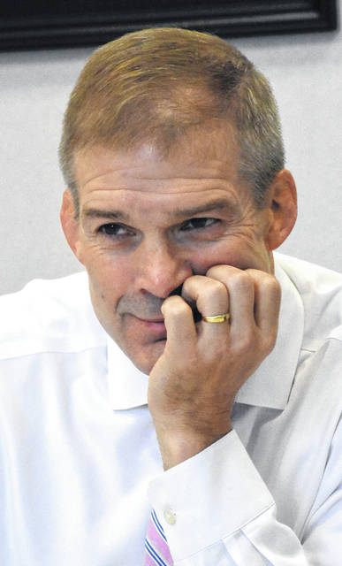 Jim Jordan, U.S. Representative for Ohio's 4th congressional district, at the Lima News on Friday.   Craig J. Orosz | The Lima News