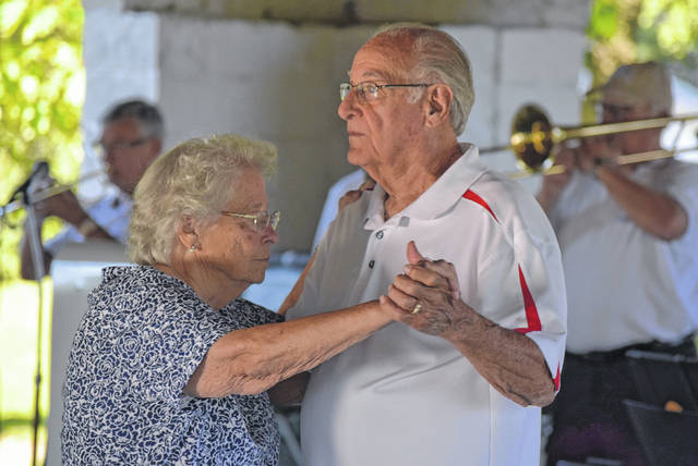 Shirley and Gary Adams enjoy a dance at Lincoln Park's Friday night dances.