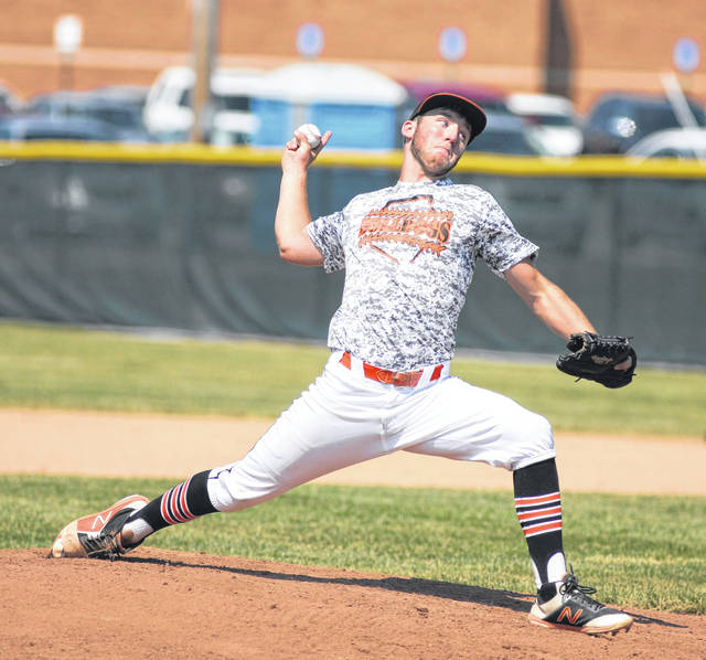 Luke Berger pitches for Elida during a Friday ACME District 5 tournament game against Crestview at Lima Central Catholic.
