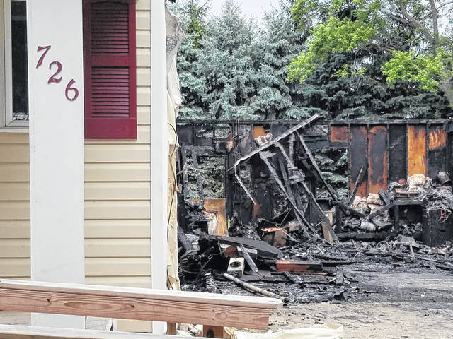 Ottawa firefighters responded Thursday evening to a structure fire at 726 S. Oak St. The fire started in an attached garage and spread to the living area of the residence before being extinguished.