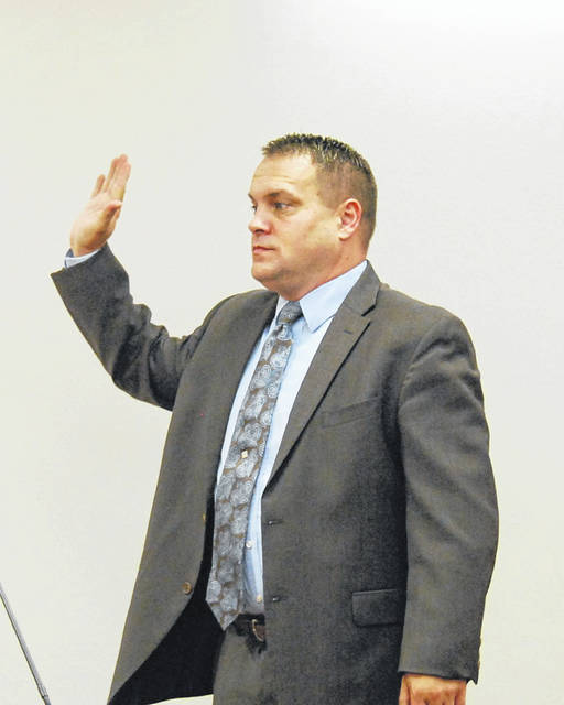 J Swygart | The Lima News Lima Police Department detective Steve Stechschulte was the lone witness called to the stand during a Tuesday morning motion to suppress hearing for Marchion Williams in Allen County Common Pleas Court.