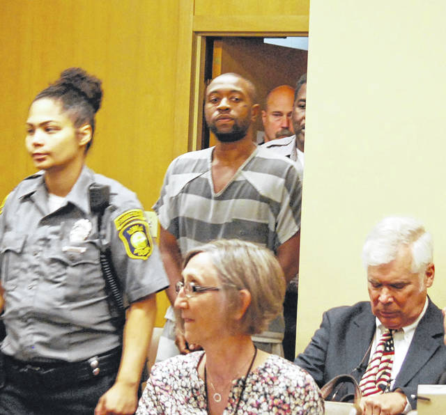 Timothy Youngblood is shown as he entered Lima Municipal Court on Wednesday for a preliminary hearing in his murder case.