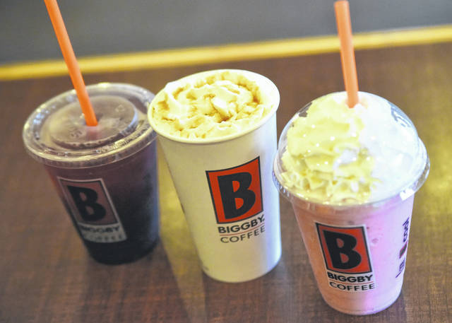 Grab a coffee and settle in for a nice chat with friends at Biggby Coffee.