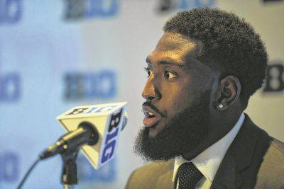 """Ohio State wide receiver Parris Campbell, pictured, said Tuesday during Big Ten Conference Media Days in Chicago that teammate Dwayne Haskins is """"embracing the role"""" of being at the top of the Buckeyes' quarterback depth chart."""