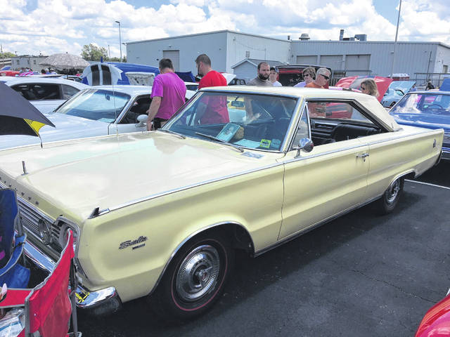 Tony Swygart brought his late father's car, a 1966 Plymouth Satellite to the Lima Chevrolet Cadillac Charity Car Show.