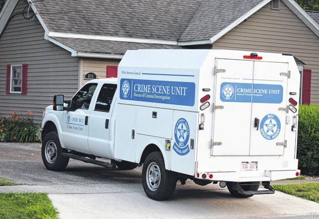 A crime scene unit van from the Ohio Bureau of Criminal Investigation was parked last week at a Van Wert residence where an infant was found unresponsive. The child, who has not yet been identified by authorities, died Thursday at the Van Wert County Hospital.
