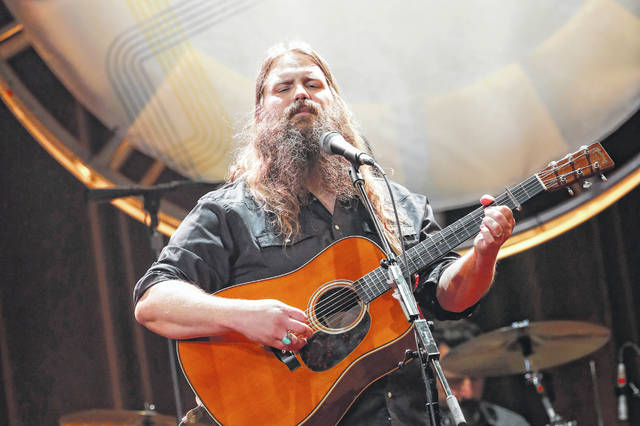 Chris Stapleton performs at the 12th annual ACM Honors on Aug. 22 at the Ryman Auditorium in Nashville, Tenn. Stapleton tops the list of finalists with five nominations for the 52nd annual Country Music Association Awards.