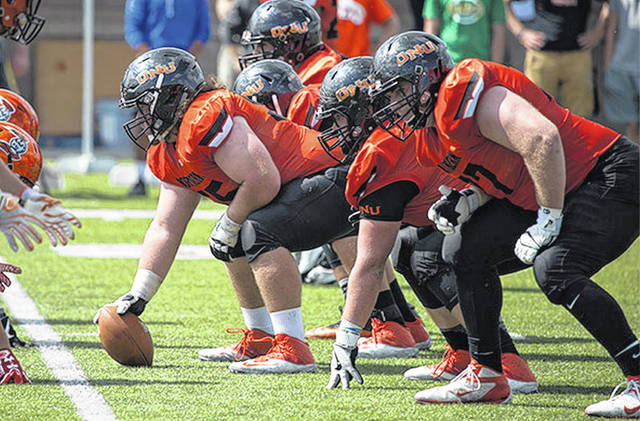 Ohio Northern University returns four of its five starters on the offensive line.