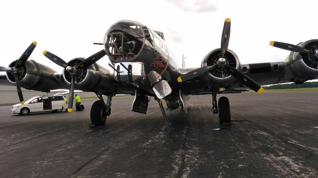 """Craig Kelly   The Lima News The WWII-era B-17 bomber """"A Sentimental Journey"""" visited the Allen County Airport in June 2017."""