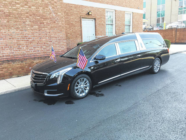 Derek Henry | The Lima News This 2018 S&S Park Hill hearse, built in Lima, will be used at the funeral of U.S. Sen. John McCain, R-Arizona.