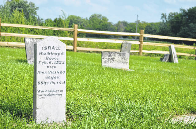 Israel Hubbard Jr., a Massachusetts native who fought in the Revolutionary War, was buried in Malahan Cemetery, a small burial ground in Putnam County's Riley Township.