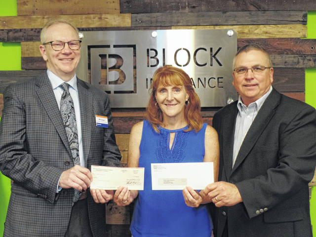 Block Agency: ( left to right) Bill Gregor, Vice President – Chief Underwriting Officer, Hastings Mutual; Tamara Shobe, Executive Director, Children's Medical Missions West; Don Ritchey, President, Block Insurance Agency