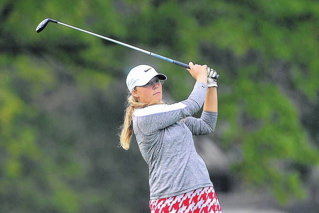 Lima Central Catholic's Hannah Garver, pictured, joined Meghan, Mary Kelly and Erin Mulcahy and now graduated Callie Koenig in finishing third last year at the Division II state championship in Columbus.
