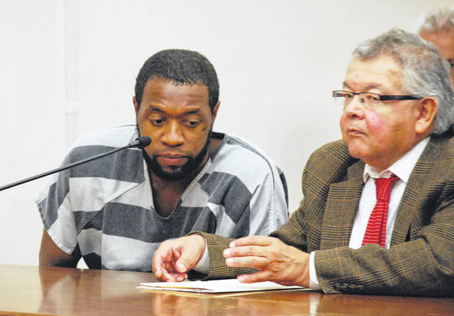 Timothy Youngblood, charged with murder in the July stabbing death of his father, Van Youngblood, was formally arraigned during a brief hearing Wednesday in Allen County Common Pleas Court. Pleas of not guilty were entered on Youngblood's behalf to all charges contained in the indictment against him.