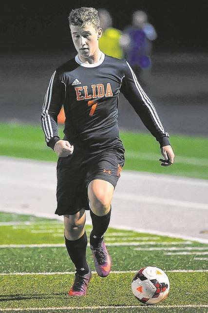 Seth Mahlmeister is among those back for defending WBL champ and regional finalist Elida.  Richard Parrish | The Lima News