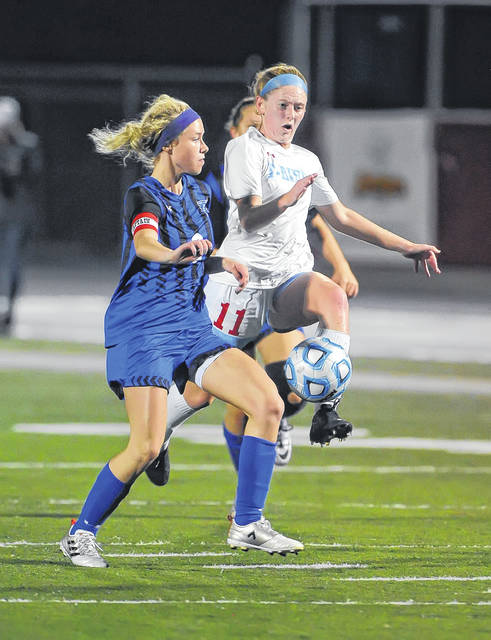 Lima Central Catholic's Avery Rice, right, and Allen East's Abby Garver are back for their respective squads.