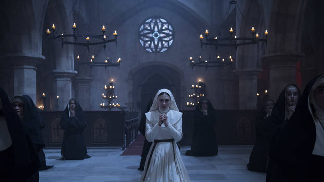 "This image released by Warner Bros. Pictures shows Sandra Teles in a scene from ""The Nun."""