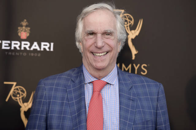FILE - In this Aug. 20, 2018 file photo, Henry Winkler attends the 2018 Performer Peer Group Celebration in Los Angeles. Winkler has not passed away and did not donate half of his estate to Donald Trump's 2020 re-election campaign, despite what a report circulating on social media suggests.Sheri Goldberg, Winkler's spokeswoman, told The Associated Press that Winkler is alive and well and does not talk about his political views. (Photo by Richard Shotwell/Invision/AP, File)