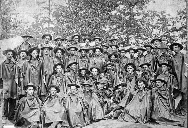 Company C of the Ohio National Guard poses for a portrait in an unknown year.