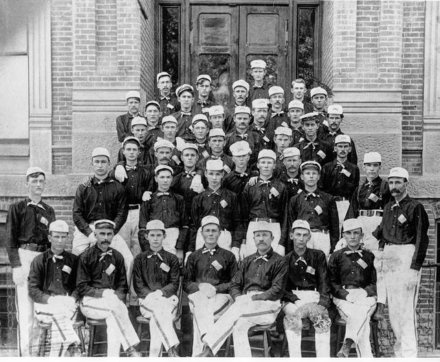 The boys of Company C pose for a portrait in 1898.